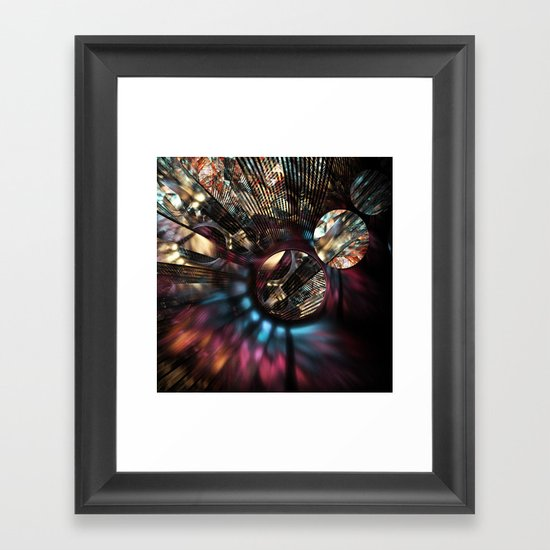 Voltage in Circles and Lines Framed Art Print