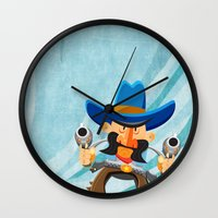 dwight schrute Wall Clocks featuring Dwight McStetson by Rabassa