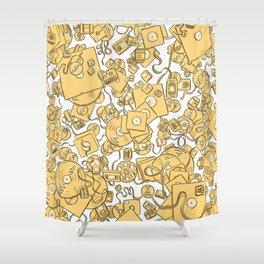 Technology! - Yellow Shower Curtain