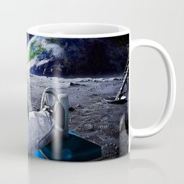 Funny Astronaut with space beer Coffee Mug