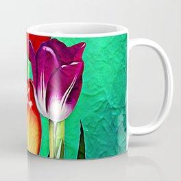 Happy Easter Greetings Tulips #society6 #flowers Coffee Mug
