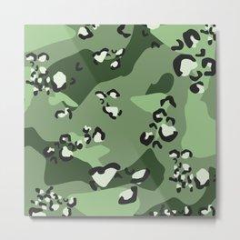 choco chip green camo Metal Print