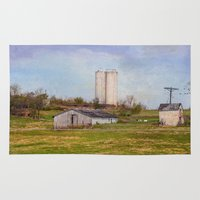 tennessee Area & Throw Rugs featuring Tennessee Country Farm by Mary Timman