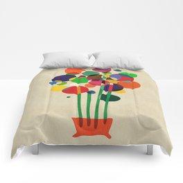 Happy flowers in the vase Comforters