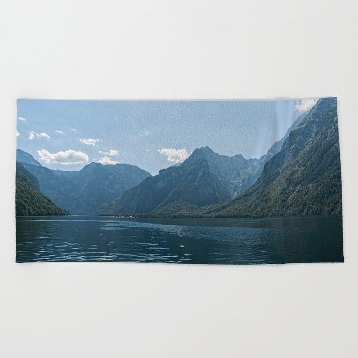 Bavaria - Koenigssee Lake Summer Alps Beach Towel