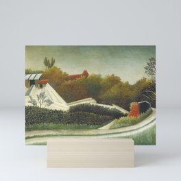 Sawmill, Outskirts of Paris (ca. 1893–1895) by Henri Rousseau. Mini Art Print