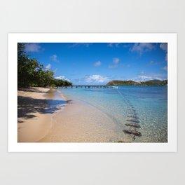 Caribbean beach days- Fine Art Print- Treval photography- summer vibe Art Print