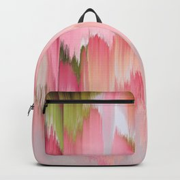 Artsy abstract blush pink watercolor brushstrokes Backpack
