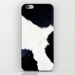 Black & White Spots (Cow Print) iPhone Skin