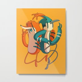 Mordecai & Rigby // Regular Show Metal Print