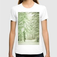 narnia T-shirts featuring Winter Pine Trees by Olivia Joy StClaire