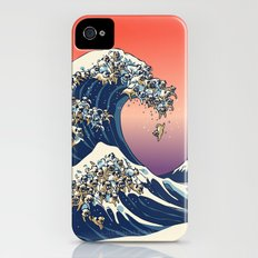 The Great Wave of Pug Slim Case iPhone (4, 4s)