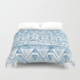 Watercolor Aztec Pattern blue Duvet Cover