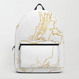 QUITO ECUADOR CITY STREET MAP ART Backpack
