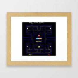 Pac Man Framed Art Print