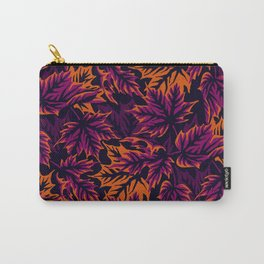 Leaves  - purple/orange Carry-All Pouch