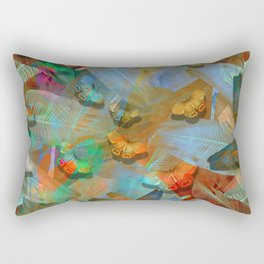 """""""Tropical Spring and butterflies"""" Rectangular Pillow"""