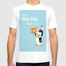Chilly Willy  White Mens Fitted Tee MEDIUM
