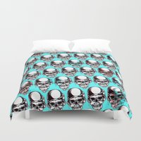 kindle Duvet Covers featuring 202 by ALLSKULL.NET