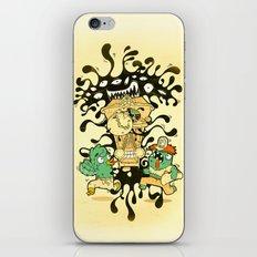 Clockwork parasite iPhone & iPod Skin
