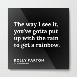 40     191120   Dolly Parton Quotes Metal Print