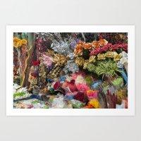 flowers in florist Art Print