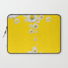 WHITE DAISIES WINDFALL YELLOW ART Laptop Sleeve