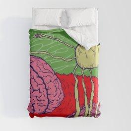 Bug in the brain Duvet Cover