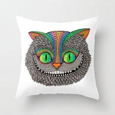 Alice´s cheshire cat by Luna Portnoi Throw Pillow