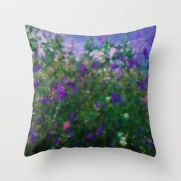 Painted Blue And Green Water Reflection  Throw Pillow