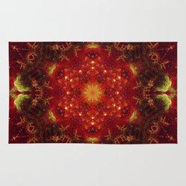 Royal Star Crest Mandala Rug