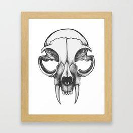 Rare Persian Smilodon Skull. Framed Art Print