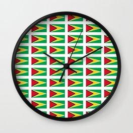 Flag of Guyana -Guyanese,Guyanes,Georgetown,Linden,Waiwai Wall Clock