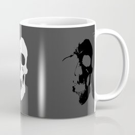 Skulls 3x3 - White, Grey, Black Coffee Mug