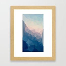 BE WITH ME - TRIANGLES ABSTRACT #PINK #BLUE #1 Framed Art Print