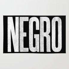 Voy de negro — Letterpress (Black) Rug
