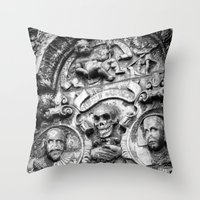 edinburgh Throw Pillows featuring Edinburgh Gothic by Mark Nelson