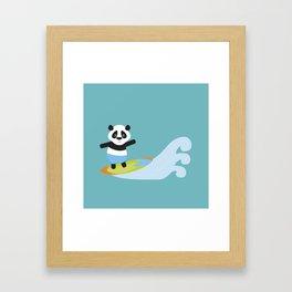 Surf Panda Framed Art Print