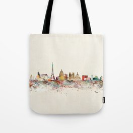 paris city skyline Tote Bag