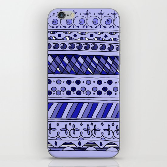 Yzor pattern 002 blue iPhone & iPod Skin
