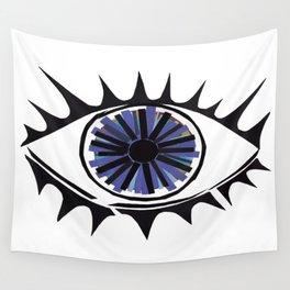 Blue Eye Warding Off Evil Wall Tapestry