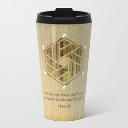 Forest & Axe — Illustrated Quote Travel Mug