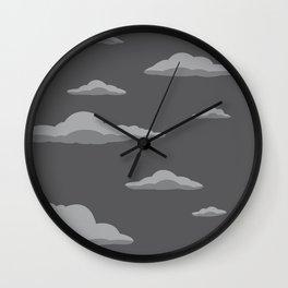 Cloudscape - Black Wall Clock