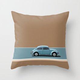 Blue Beetle Throw Pillow