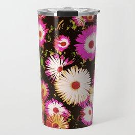 Bright Flowers - Dark Background Travel Mug