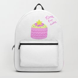 Time for Cake Print Backpack