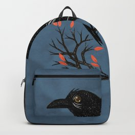 Raven On A Cold And Rainy Day Backpack