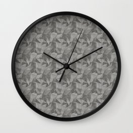 Abstract Geometrical Triangle Patterns 2 Benjamin Moore 2019 Trending Color Kendall Charcoal Gray HC Wall Clock