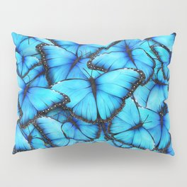 Peace of the Blue Butterfly Pillow Sham