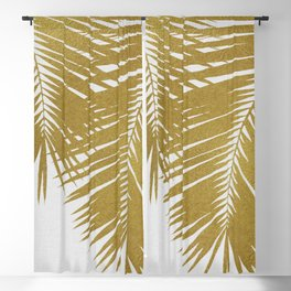 Palm Leaf Gold II Blackout Curtain